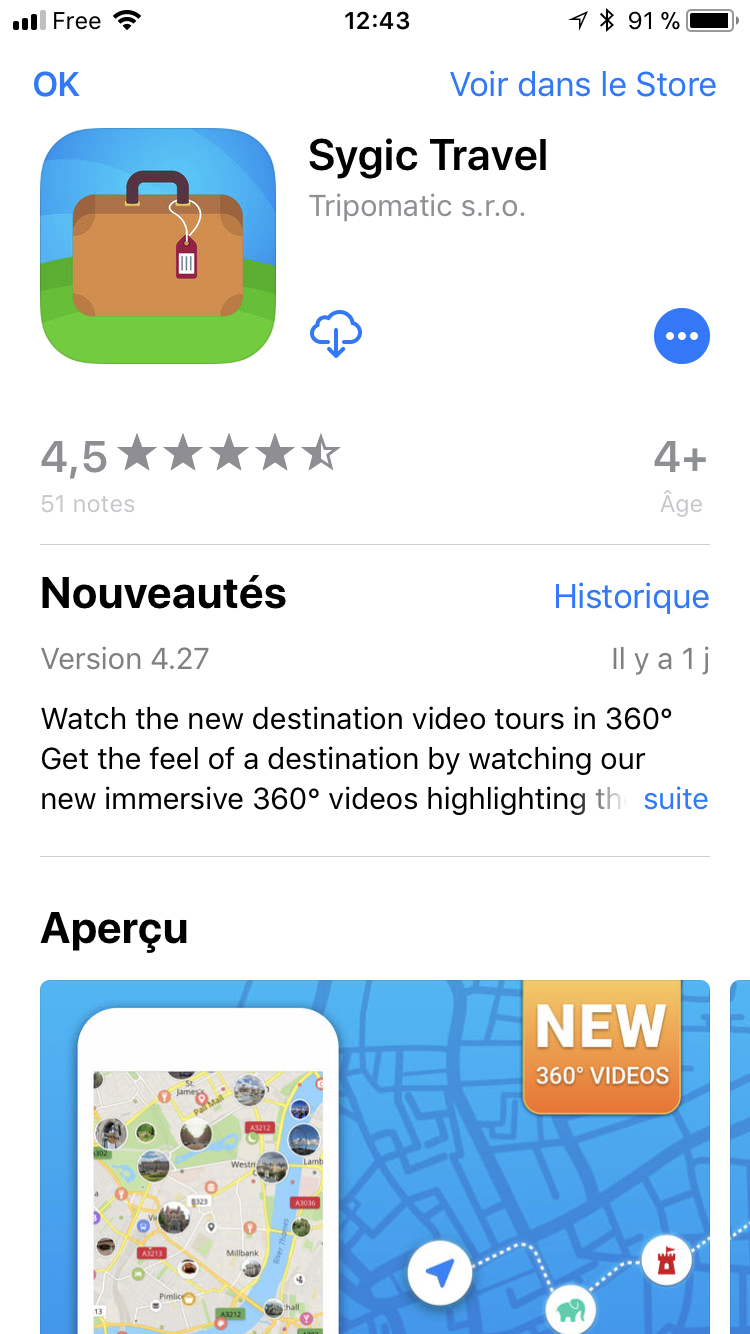 L'application mobile Sygic Travel