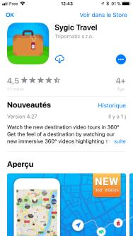 L'application mobile Sygic Travel